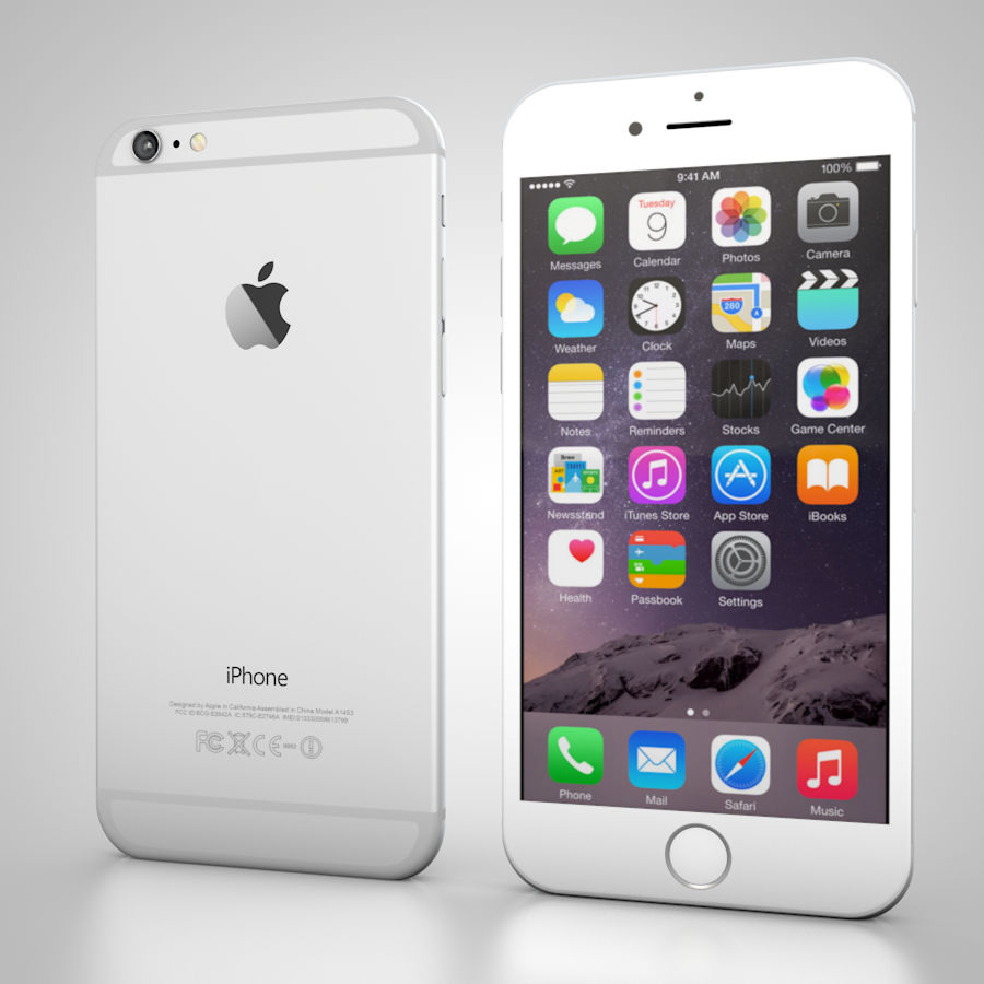 Apple iPhone 6 및 6S 블랙 화이트 골드 royalty-free 3d model - Preview no. 7