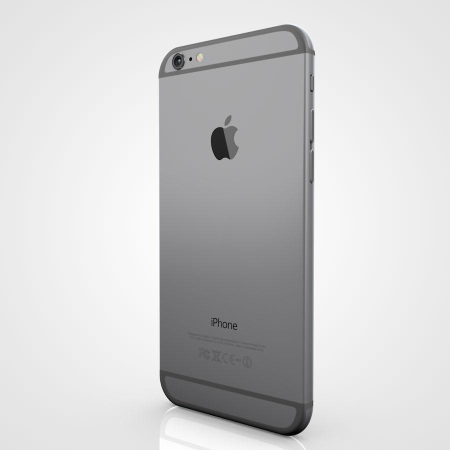 Apple iPhone 6 및 6S 블랙 화이트 골드 royalty-free 3d model - Preview no. 9