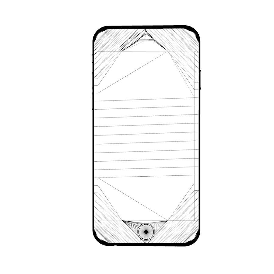 Apple iPhone 6 및 6S 블랙 화이트 골드 royalty-free 3d model - Preview no. 18