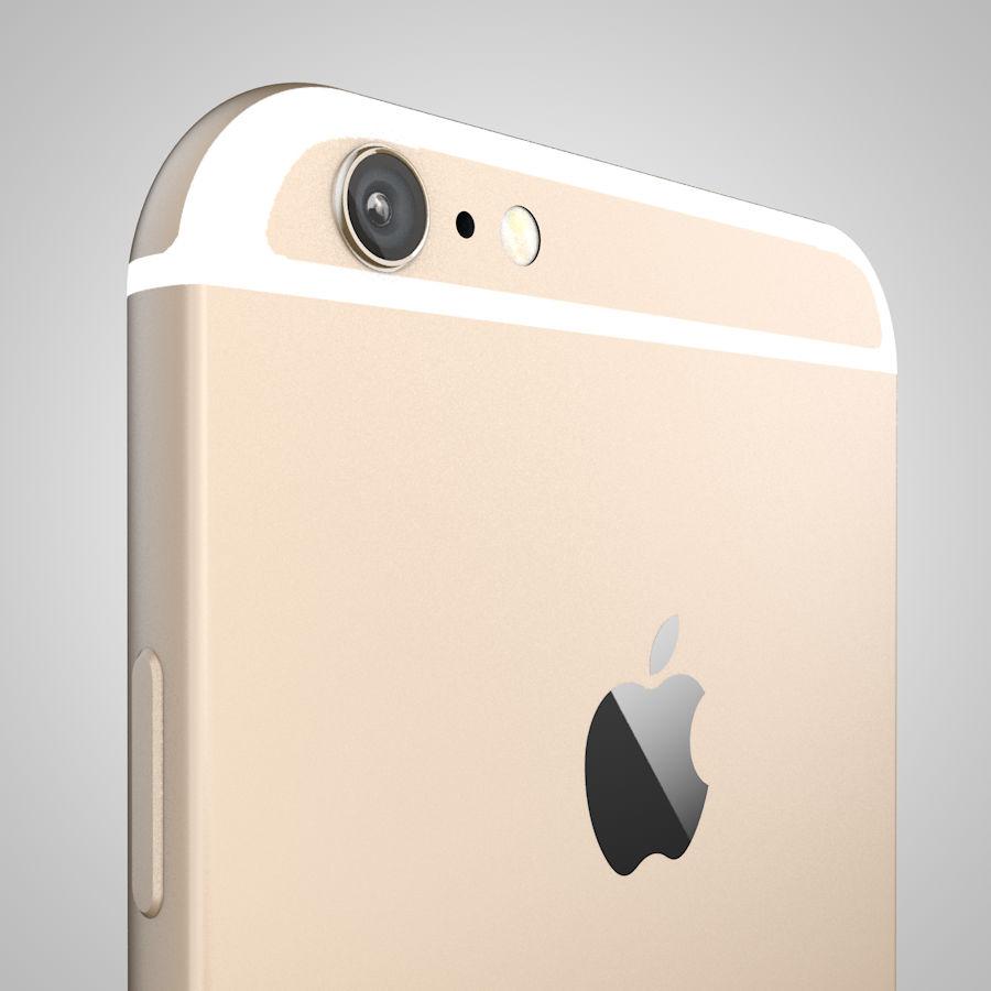 Apple iPhone 6 및 6S 블랙 화이트 골드 royalty-free 3d model - Preview no. 11