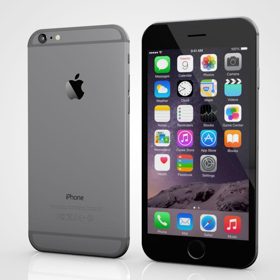 Apple iPhone 6 및 6S 블랙 화이트 골드 royalty-free 3d model - Preview no. 2