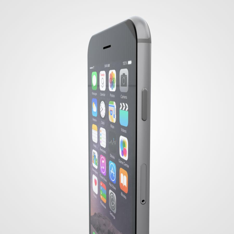 Apple iPhone 6 및 6S 블랙 화이트 골드 royalty-free 3d model - Preview no. 16