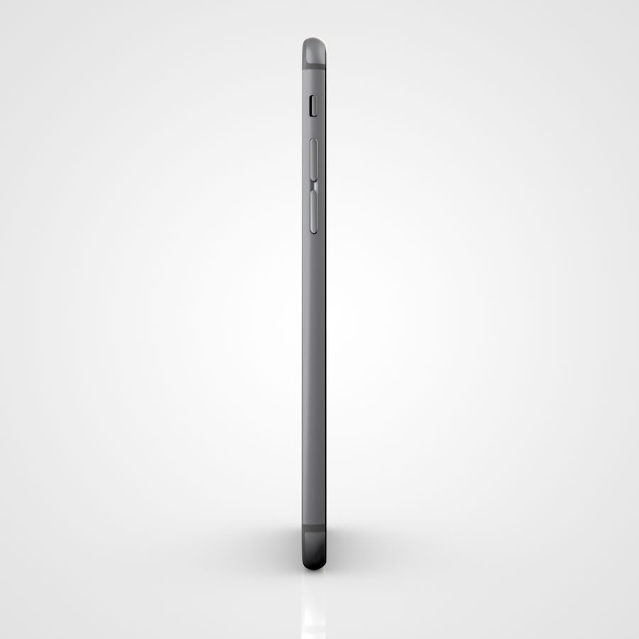 Apple iPhone 6 및 6S 블랙 화이트 골드 royalty-free 3d model - Preview no. 15