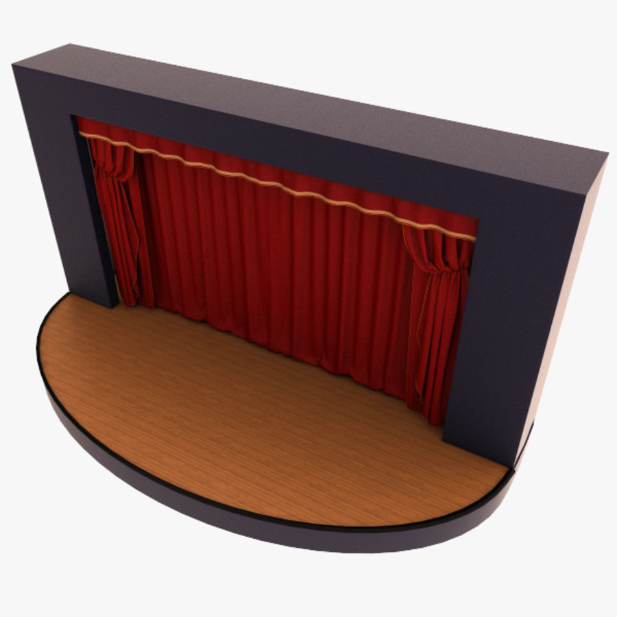 stage royalty-free 3d model - Preview no. 4