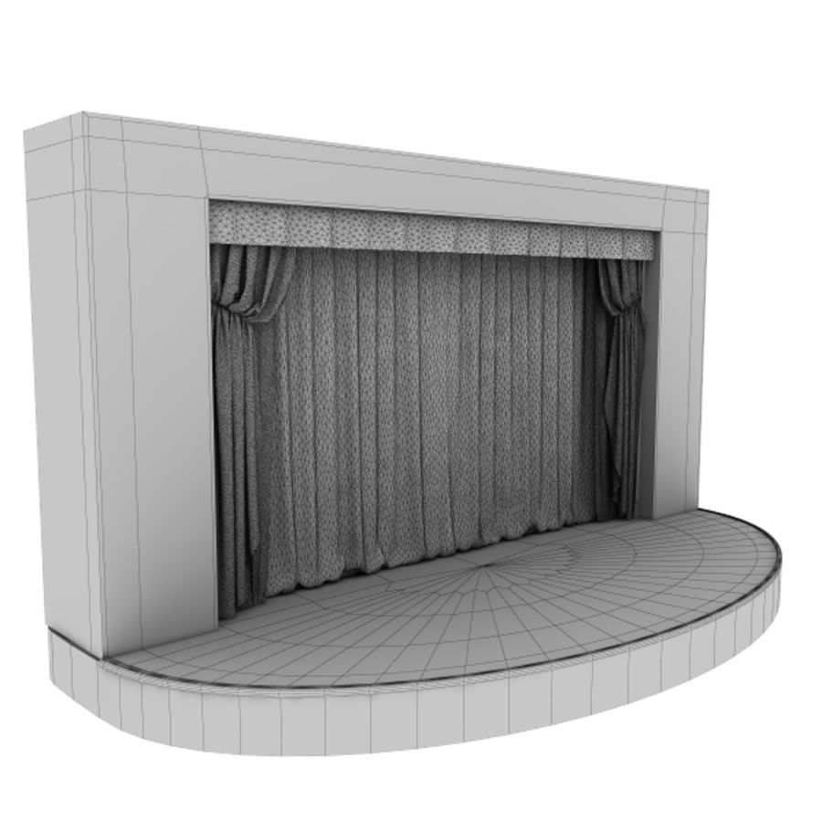 stage royalty-free 3d model - Preview no. 7