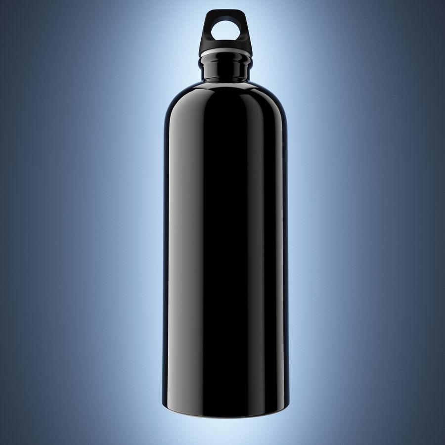 Aluminium Bottle royalty-free 3d model - Preview no. 3