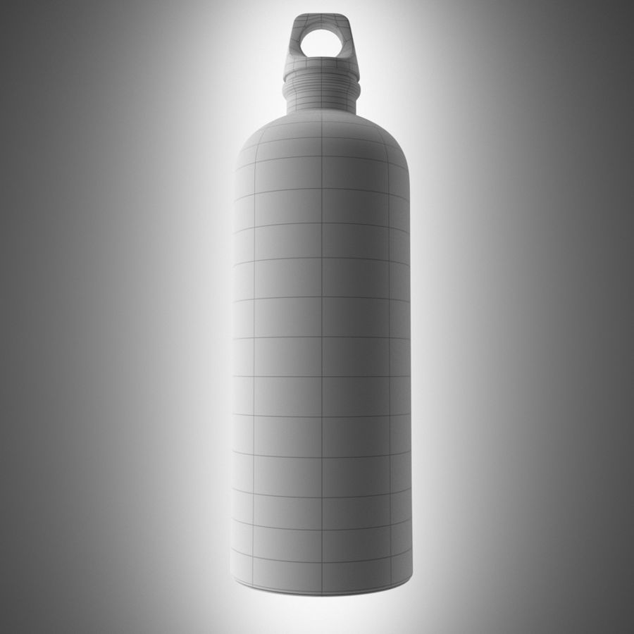 Aluminium Bottle royalty-free 3d model - Preview no. 4
