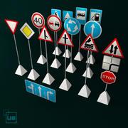 дорожные знаки 3d model