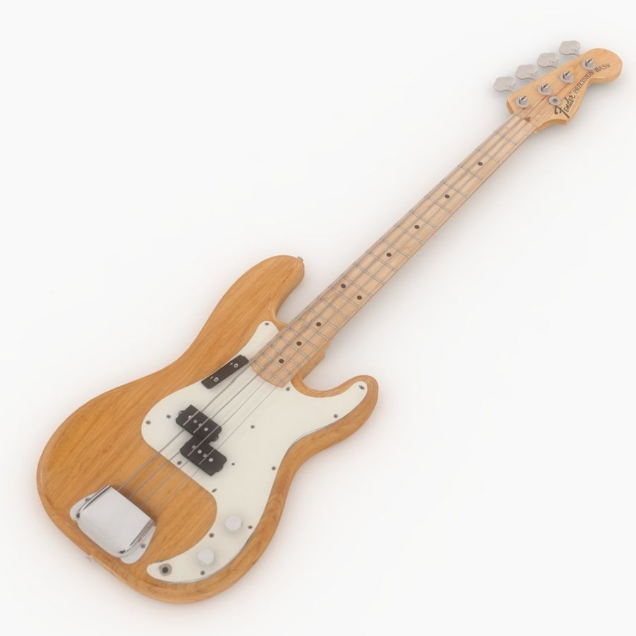 Fender Präzision royalty-free 3d model - Preview no. 1