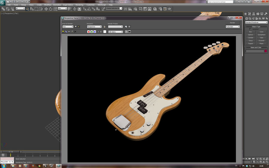 Fender Präzision royalty-free 3d model - Preview no. 11