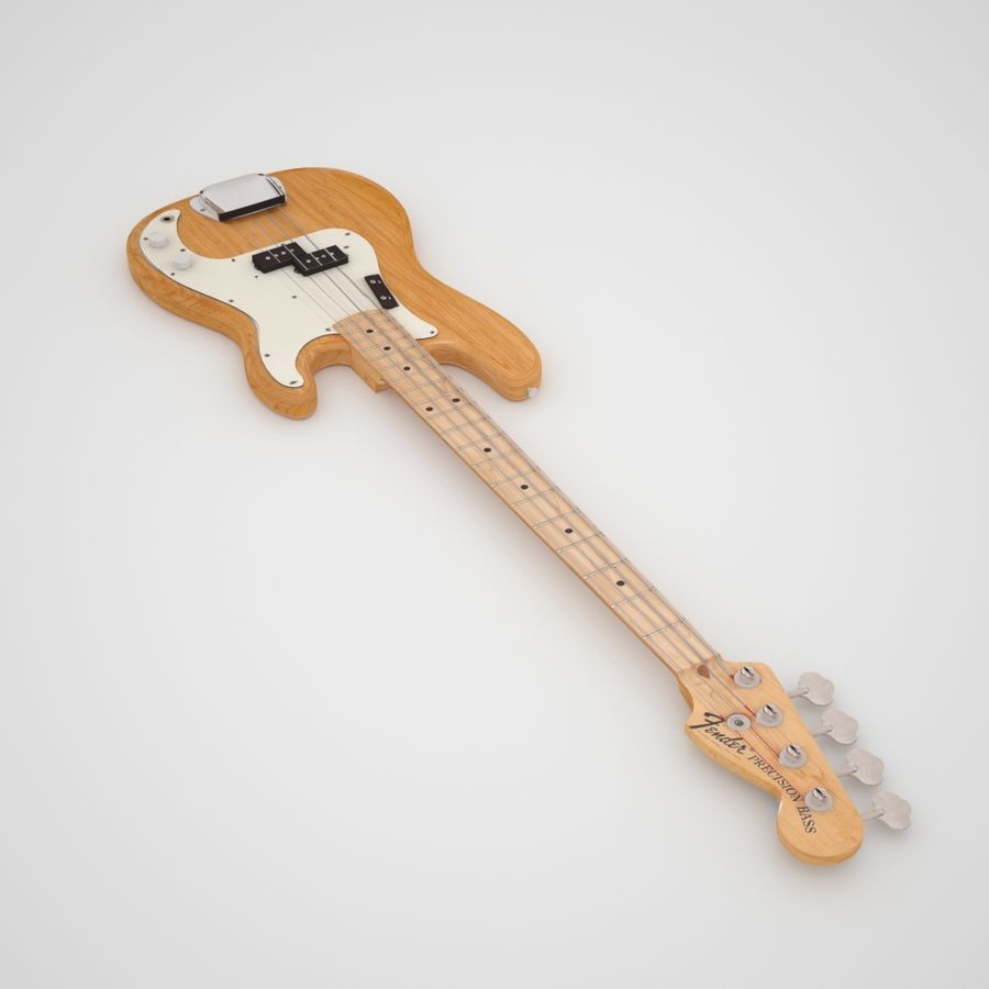 Fender Präzision royalty-free 3d model - Preview no. 4