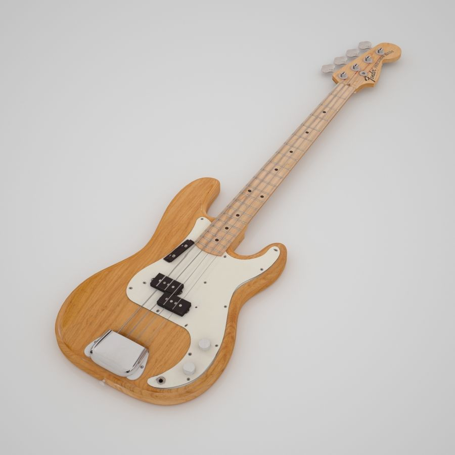 Fender Präzision royalty-free 3d model - Preview no. 3