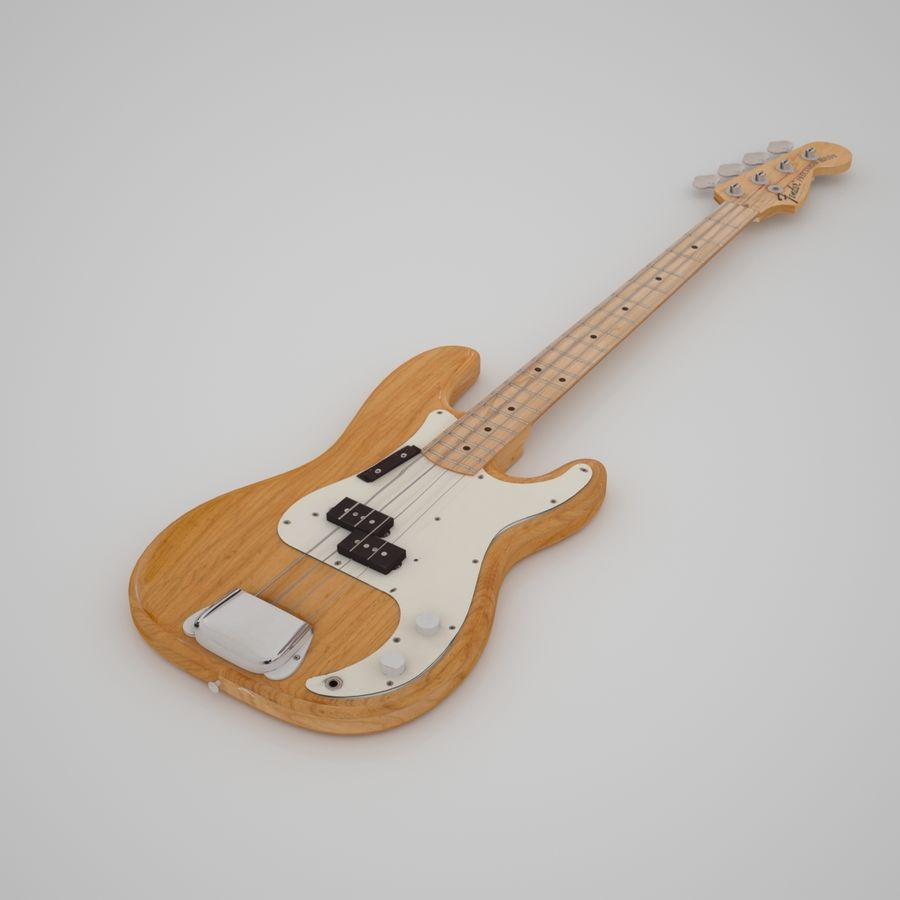Fender Präzision royalty-free 3d model - Preview no. 2