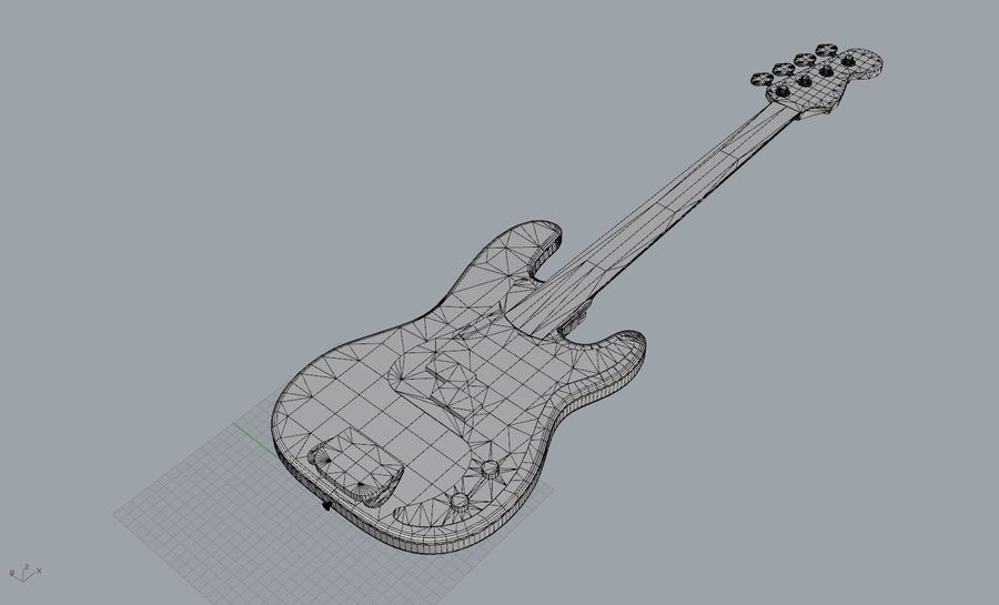 Fender Präzision royalty-free 3d model - Preview no. 9