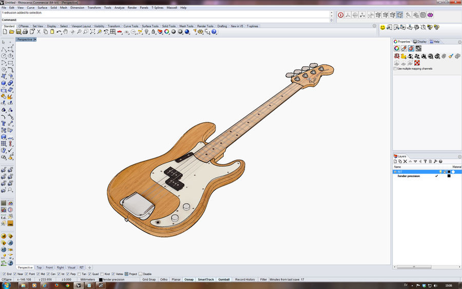 Fender Präzision royalty-free 3d model - Preview no. 10