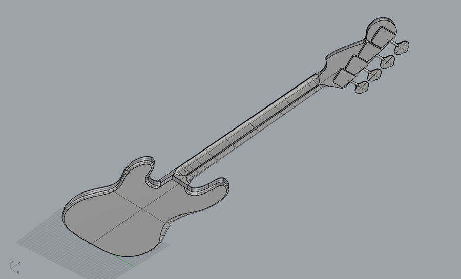Fender Präzision royalty-free 3d model - Preview no. 8