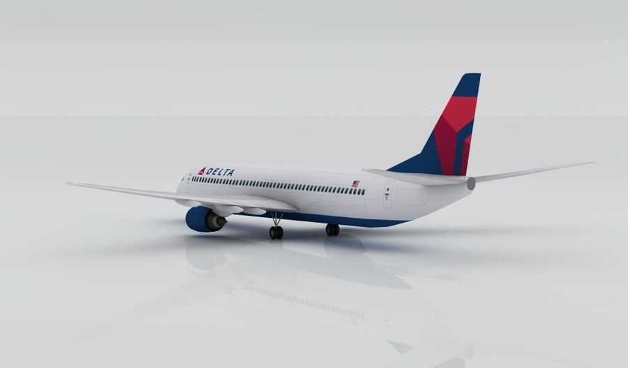 Boeing 737-800 Delta royalty-free 3d model - Preview no. 5