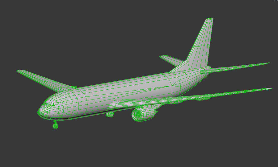 Boeing 737-800 Lufthansa royalty-free 3d model - Preview no. 6