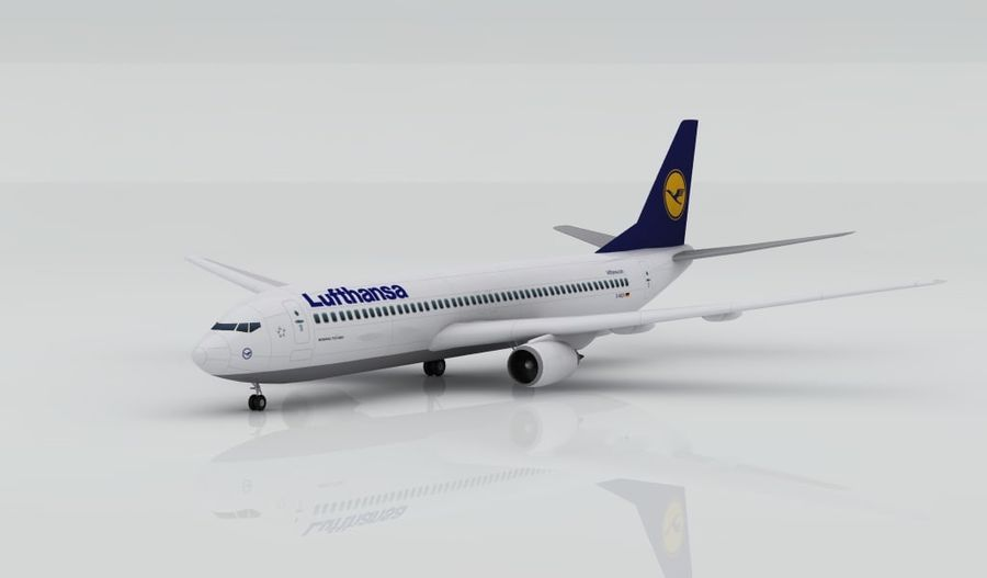 Boeing 737-800 Lufthansa royalty-free 3d model - Preview no. 1