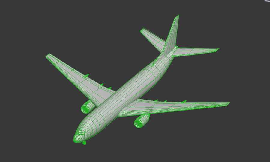 Boeing 737-800 Lufthansa royalty-free 3d model - Preview no. 7