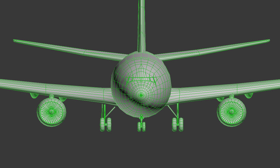Boeing 737-800 Lufthansa royalty-free 3d model - Preview no. 5