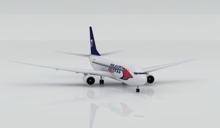 Boeing 737-800 Resetjänst royalty-free 3d model - Preview no. 1