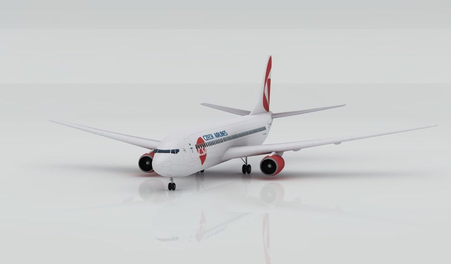 Boeing 737-800 CSA royalty-free 3d model - Preview no. 1
