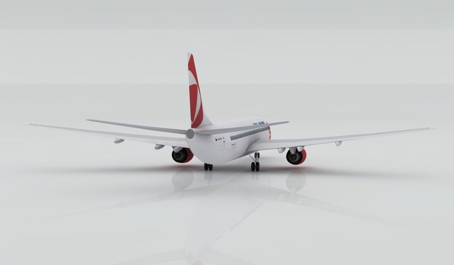 Boeing 737-800 CSA royalty-free 3d model - Preview no. 4