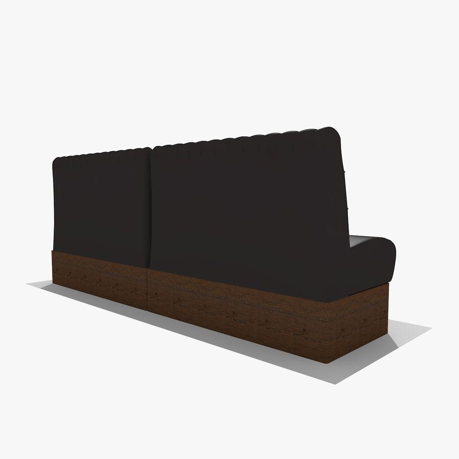 Black Bar Sofa Chair royalty-free 3d model - Preview no. 3