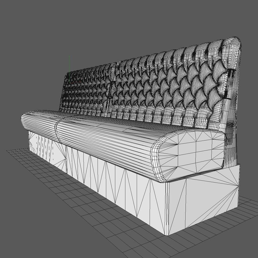 Black Bar Sofa Chair royalty-free 3d model - Preview no. 10