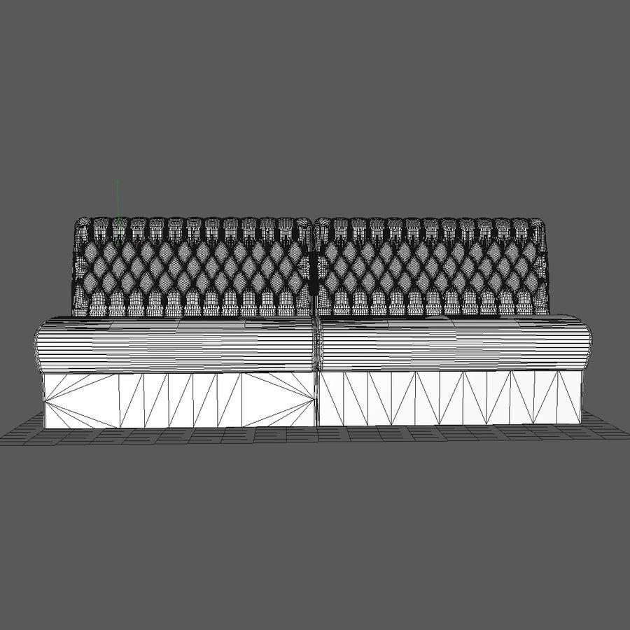 Black Bar Sofa Chair royalty-free 3d model - Preview no. 8
