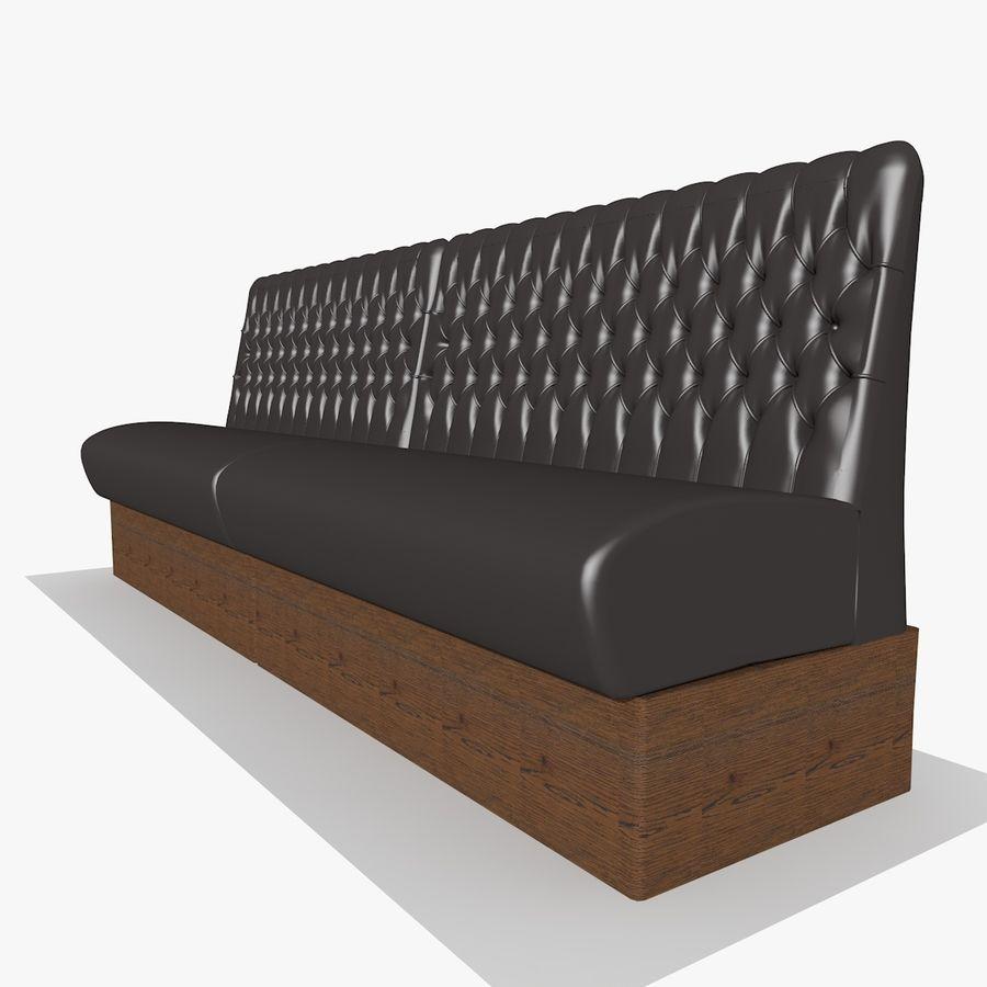 Black Bar Sofa Chair royalty-free 3d model - Preview no. 5