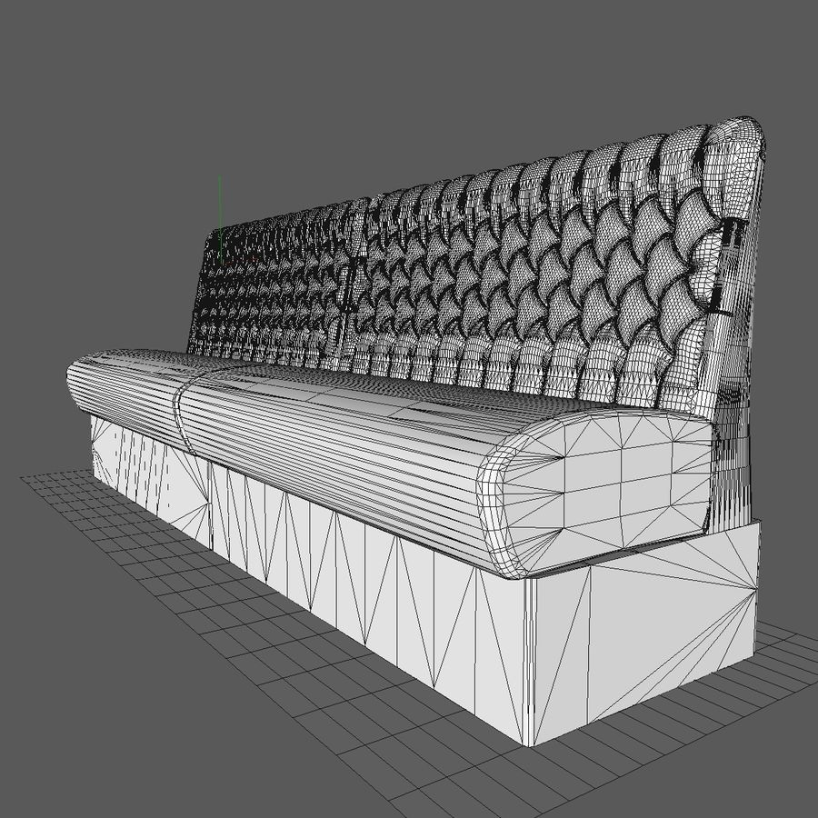 Black Bar Sofa Chair royalty-free 3d model - Preview no. 10
