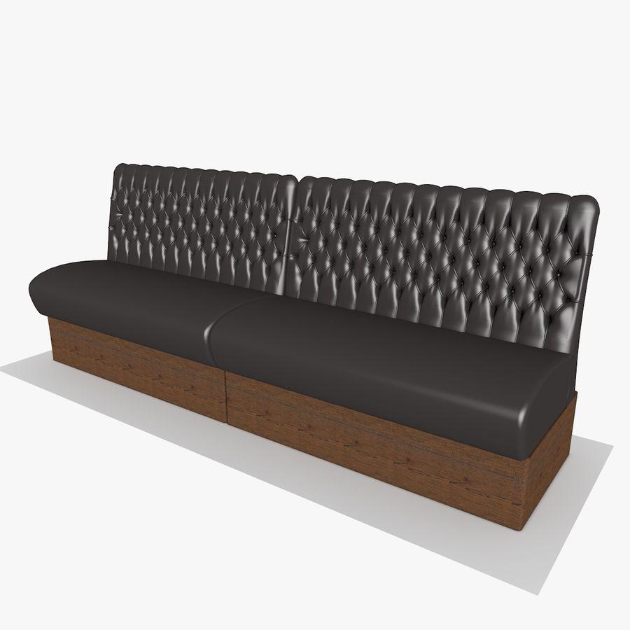 Black Bar Sofa Chair royalty-free 3d model - Preview no. 4