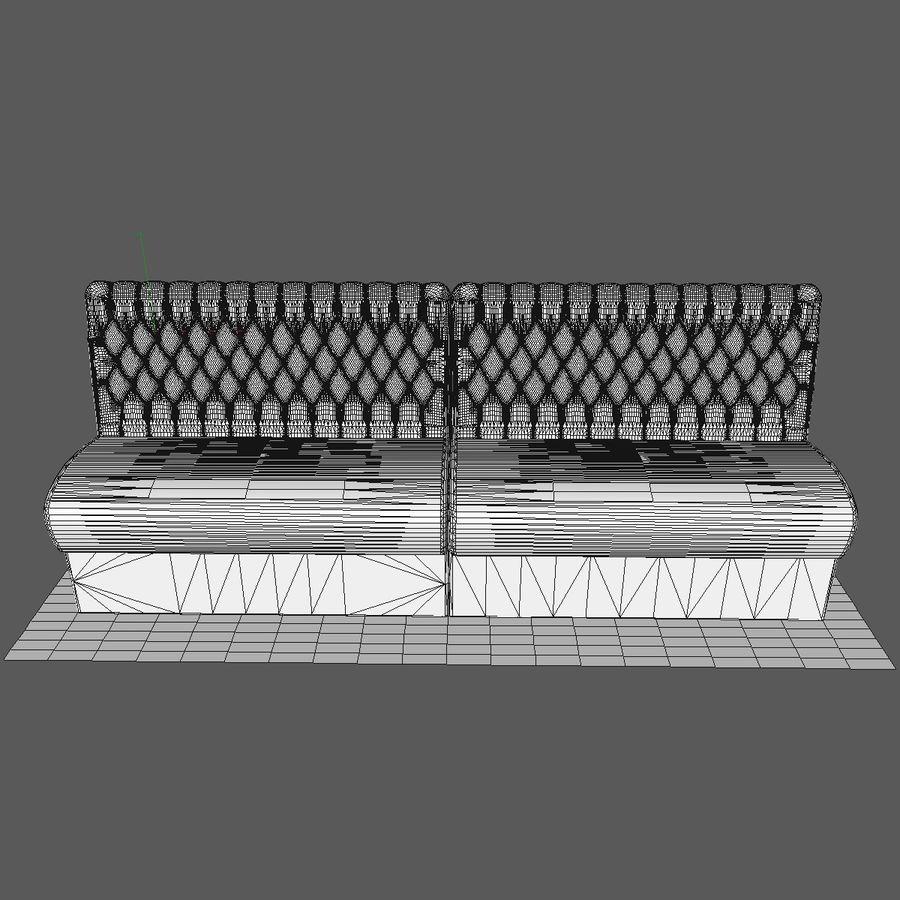 Black Bar Sofa Chair royalty-free 3d model - Preview no. 7
