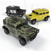 Toy Car Hummer 3d model