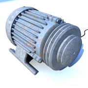 Electric motor - old engine 3d model