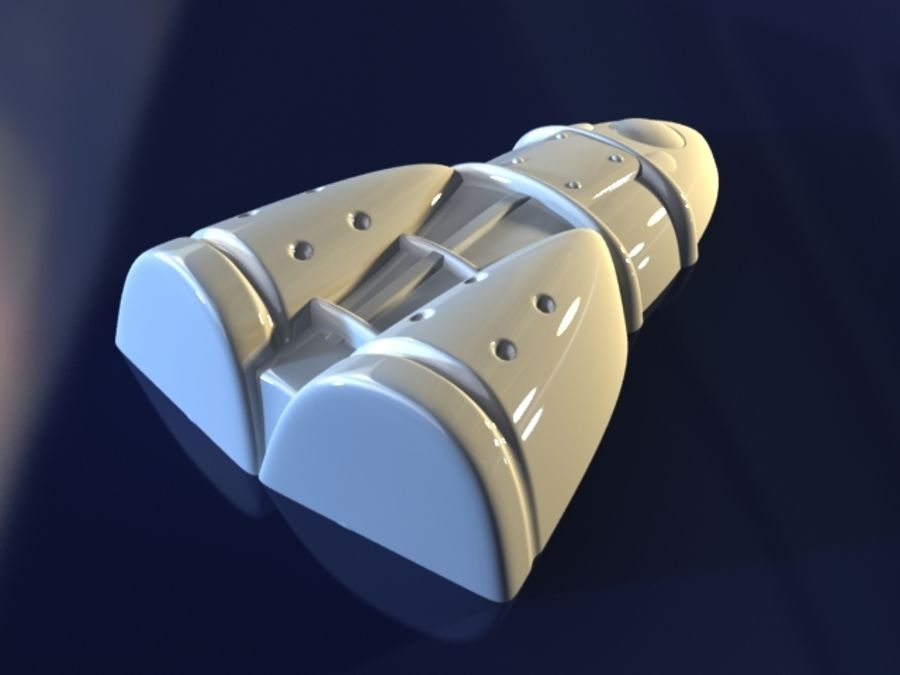 Rocket royalty-free 3d model - Preview no. 4