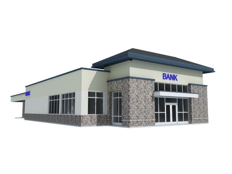 Банка royalty-free 3d model - Preview no. 1