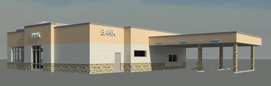 Банка royalty-free 3d model - Preview no. 4