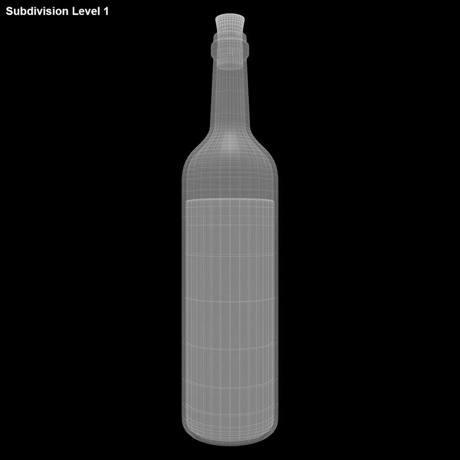 Garrafa de vinho royalty-free 3d model - Preview no. 15