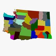 Mapa do Condado de Washington 3d model