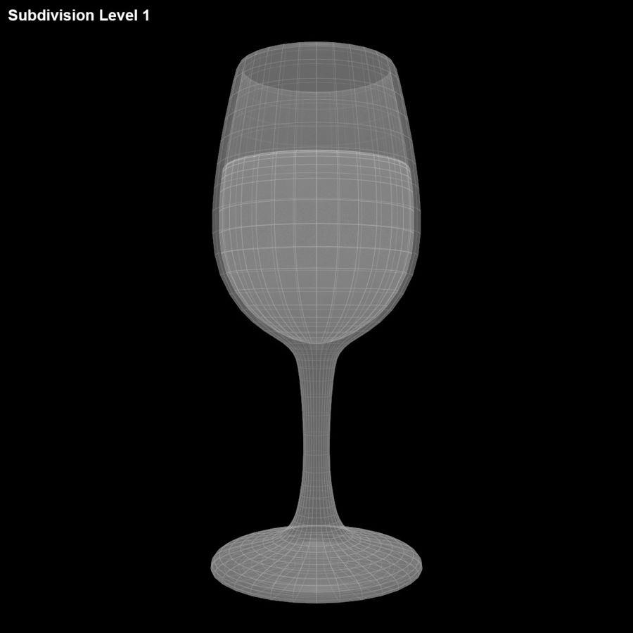 와인 한 잔 royalty-free 3d model - Preview no. 14