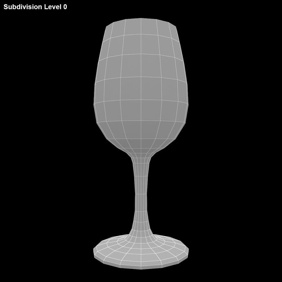 와인 한 잔 royalty-free 3d model - Preview no. 12