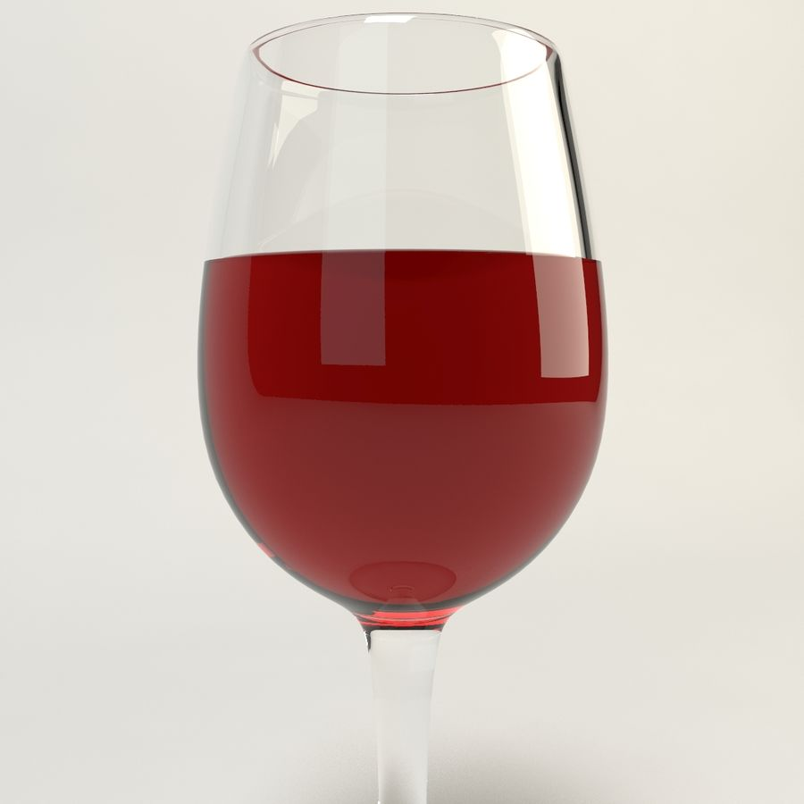 Glass Of Wine royalty-free 3d model - Preview no. 5