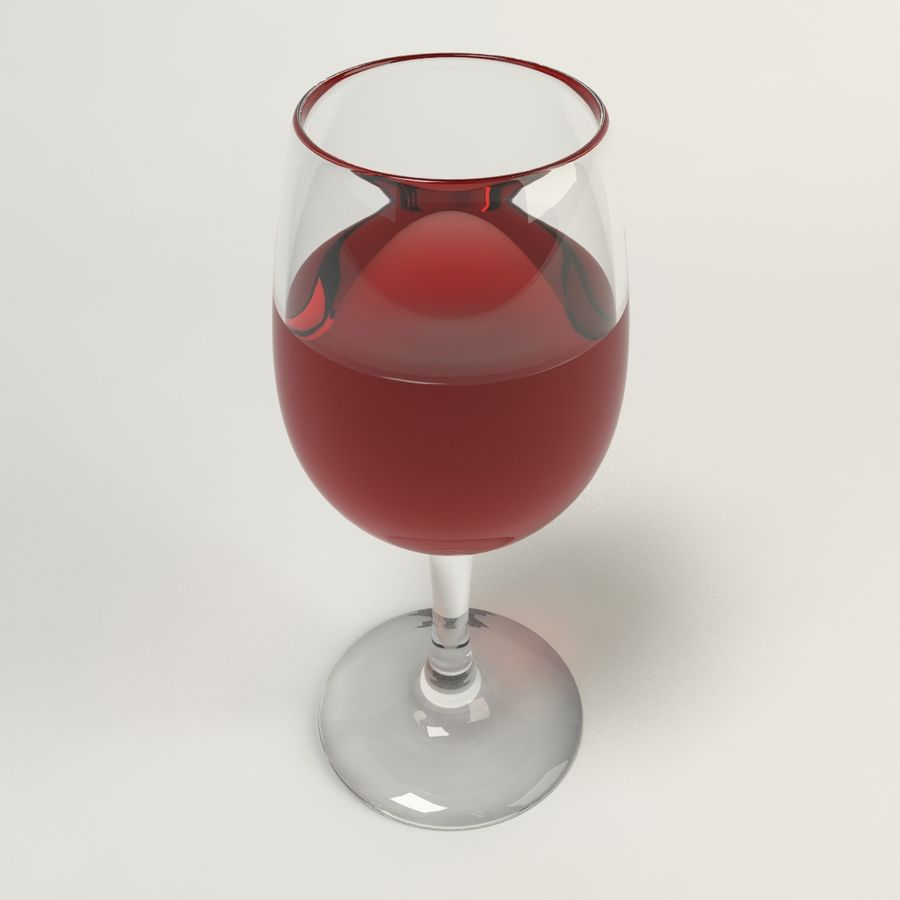 Glass Of Wine royalty-free 3d model - Preview no. 7