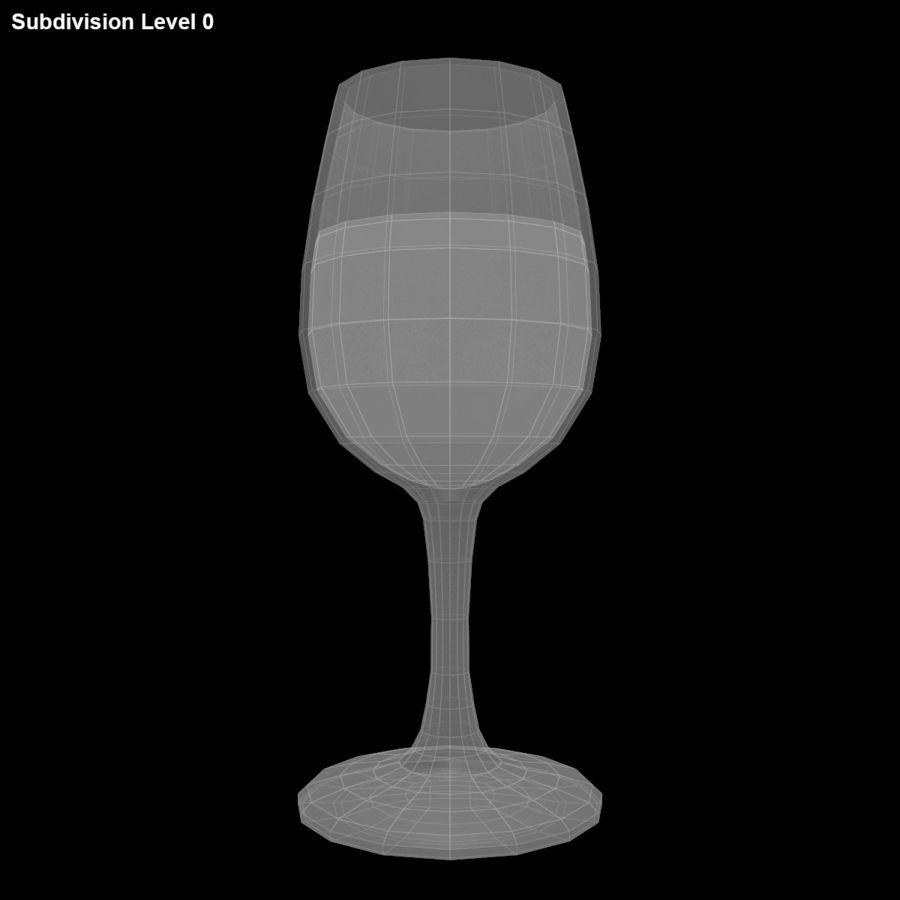 와인 한 잔 royalty-free 3d model - Preview no. 13