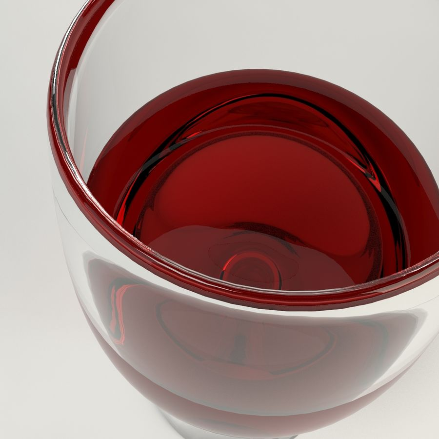 Glass Of Wine royalty-free 3d model - Preview no. 6