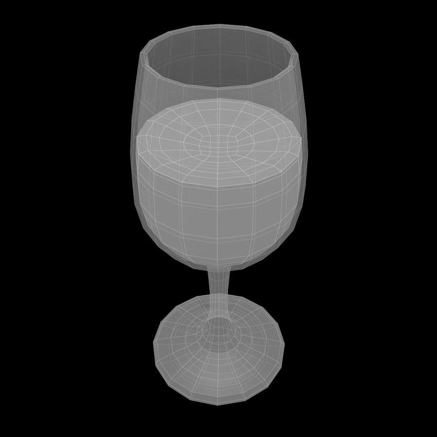와인 한 잔 royalty-free 3d model - Preview no. 11