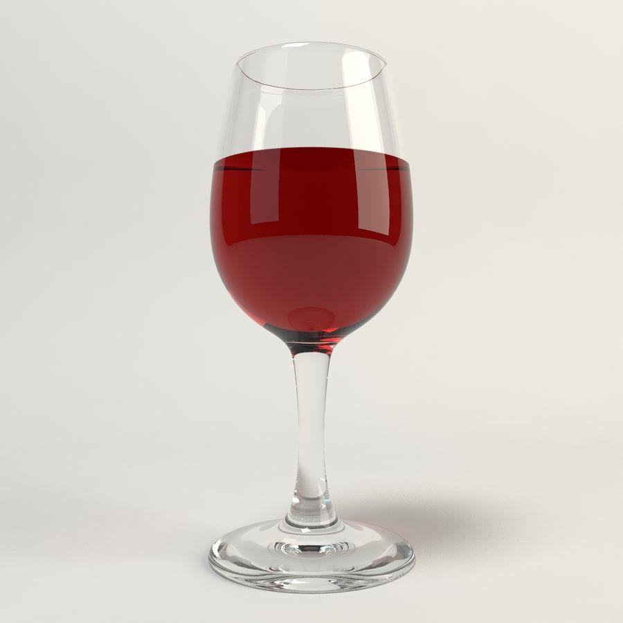 와인 한 잔 royalty-free 3d model - Preview no. 2